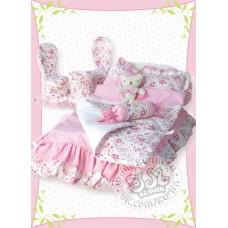 Постель розовая - спокойной ночи, мишка