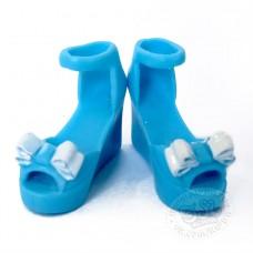 Гламурные туфельки голубые