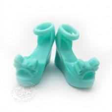 Гламурные туфельки бирюзовые