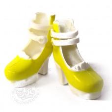 Туфли на платформе желтые