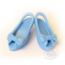 Босоножки с бантиком голубые
