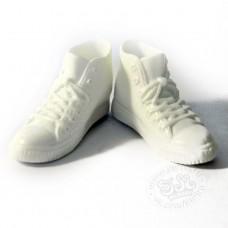 Высокие кроссовки (кеды) белые