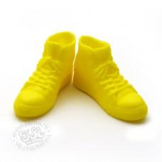 Высокие кроссовки (кеды) желтые