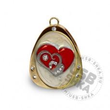 Флешка кулон с сердцем