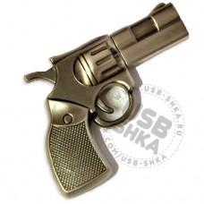 Флешка револьвер (пистолет) черный. Металл