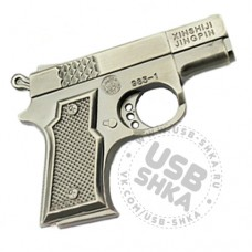 Флешка пистолет металлический