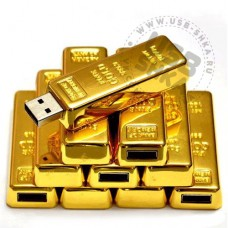 Флешка золотой слиток