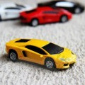 Флешка машинка Lamborghini желтая