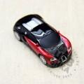 Флешка машинка Porsche черно-красная