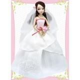Невеста в бело-розовом